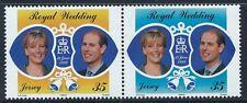 1999 JERSEY PRINCE EDWARD & SOPHIE ROYAL WEDDING SET OF 2 FINE MINT MNH