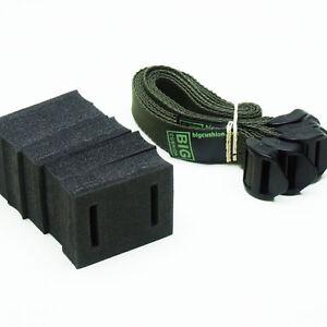 """5-pack of 45cm (18"""") Ladderlock Buckle Tree Ties Support Foam Spacer DARK GREEN"""