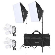 Andoer Studio Photo Lighting Kit with 2 * Softbox / 2 * 4in1 Bulb Socket / M0N8