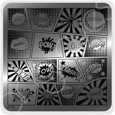 MoYou Salon Professional Nail Polish Art Image Plate Comic Book Strip Theme