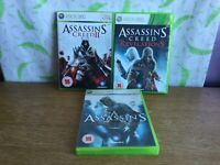 3 x Assassin's Creed Games for Xbox 360 I, II & Revelations - T16