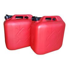 2 x 20 Liter Dieselkanister Benzinkanister UN-Zulassung rot inkl. Ausgießer NEU