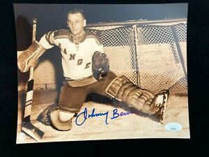 Johnny Bower Signed Autographed Photo JSA - New York Rangers Toronto Maple Leafs