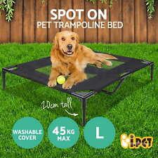 iPet Pet Trampoline Bed Dog Puppy Cat Heavy Duty Frame Mesh Hammock S M L XLsize