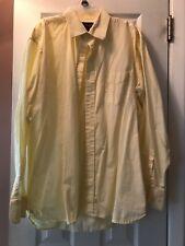 Mens Steve & Barry's Lon Sleeve Size L 16-16 1/2 Yello Button Down Dress Shirt
