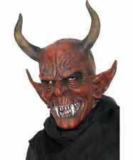 Mask Smiffys Men's Devil Demon Halloween 100% Latex One Size Color Red Scary