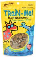 Crazy Dog Train-Me Training Reward Treats for Dogs Chicken 4 oz