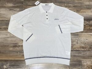 Brioni Sweater Polo Style Cashmere Sz 52/XL US 42 Embroidered Logo Ultra Luxury