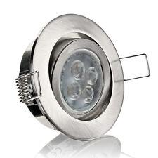 10er Set LED Einbaustrahler Einbauleuchte Spot Aluminium DIMMBAR GU10-230V T7QD1