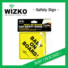 2x NEW Baby on board Sign with a cap Car signs Safety Window Safe Suction Vinyl