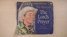 Little YELLOW Golden Record Roy Rogers THE LORD'S PRAYER 78rpm 50s