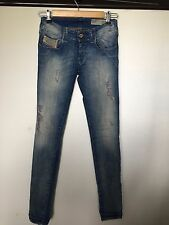 Diesel Jeans Grupee Wash 0808G Stretch Super Slim Skinny Low Waist W 23 L 32