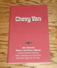 Original 1981 Chevrolet Chevy Van Owners Operators Manual 81