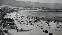 RPPC Santa Barbara CA Beach Swimmers Stearns Wharf Real Photo Postcard 1950-60s