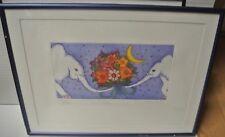 """DEBERDT FRANCOISE Litographie """" Enlacées """" 128/180 H 12 x L 24 cm"""