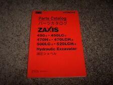 Hitachi Hydraulic Excavator Zaxis 450 470 500 520 LCH LC H Parts Catalog Manual