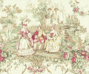 Cottage Shabby Chic Quilt Gate Classic Library Cotton Fabric QUGRU2400-11A BTY