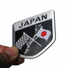 Japan Badge Metal Sticker Decal For Mazda Honda Nissan Mitsubishi Suzuki Toyota