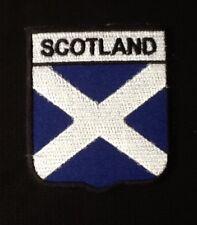 SCOTLAND SCOTTISH SALTIRE ST ANDREW CROSS  BADGE IRON SEW ON PATCH