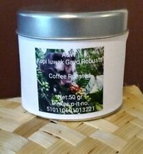 50 gram kopi luwak gayo 100% Wild Civet Whole Beans  Coffee Roasted