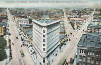 Vintage PNC Postcard - Panorama of Oakland California - First National Bank Bldg