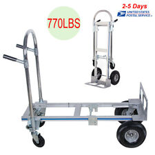 Portable Cart Folding Dolly Push Truck Hand Collapsible Trolley Luggage 770LB US