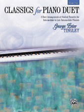 """""""Classics for Piano Duet"""" MUSIC Book-LEVEL 2-BRAND NEW ON SALE SONGBOOK-PIANISTS"""