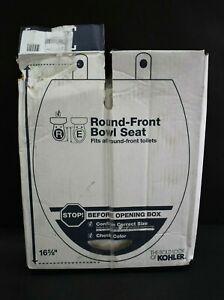 Kohler 20111-0 Brevia Round Toilet Seat White 16.6-in L x 18.1-in W x 1.38-in H
