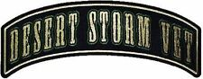 DESERT STORM VET ROCKER VET Veteran Military MC Cool Biker Vest Patch PAT-0516