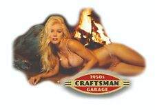 CRAFTSMAN TOOL STICKER ACE 1950 GIRL SEXY DECAL MECHANIC TOOLBOX SIGN CHEST USA