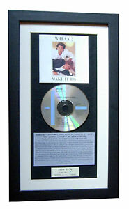 WHAM Make It Big CLASSIC CD Album GALLERY QUALITY FRAMED+EXPRESS GLOBAL SHIP