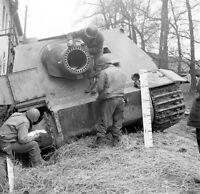 WW2 Photo WWII  Captured German Sturmtiger Sturmpanzer 1945 World War Two / 4160