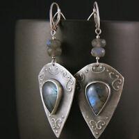 Retro Fashion Long Earrings Exaggerated Pendant Jewelry for Girls Women Dress JA