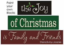 Joanie LG Stencil Twas Night Before Christmas Holiday Country Home Family Signs