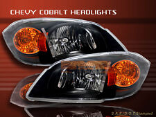 2005-2008 CHEVY COBALT HEADLIGHTS OE STYLE BLACK 2006