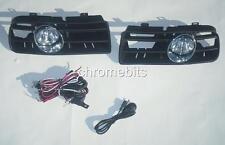 FRONT FOG LIGHTS LAMPS GRILLE SET FOR VW GOLF 4 IV 1997-2006 mk4 + wiring kit