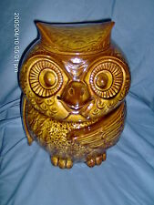 MCCOY OWL COOKIE JAR # 204 BROWN VERY GOOD CONDITION MADE IN USA