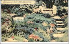 Three Rivers Michigan USA Amerika Postcard ~1930/50 Kellogg Rock Garden Garten