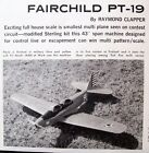 PT-19 RC UPDATED STERLING PLAN + CONSTRUCTION ARTICLE to Build a Model Airplane
