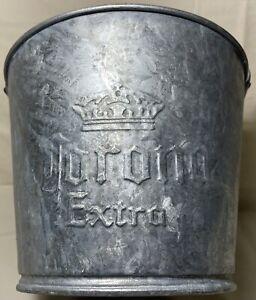 Vintage Rare Embossed CORONA Extra Galvanized Metal Beer Bottle Ice Pail Bucket