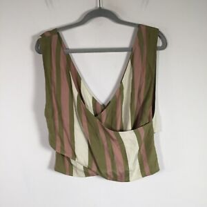 Sir the label womens top size S silk multicolour striped tank sleeveless V neck