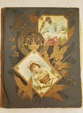 Victorian Ephemera Collected in a 35 Page Scrapbook