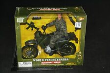 "New WORLD PEACEKEEPERS KAWASAKI KLR650 GI JOE 12"" 1:6 SCALE MOTORCYCLE MILITARY"