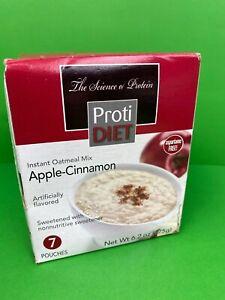 Proti Diet Oatmeal - Apple Cinnamon 7- 6.2 oz Packs New With Box