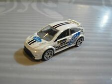 2018 HOT WHEELS  loose = `09 FORD FOCUS RS = WHITE ,  forza motorsport
