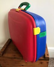 VINTAGE 1990'S UNITED COLOURS OF BENETTON HARD SHELL SMALL SUITCASE CARRY ON
