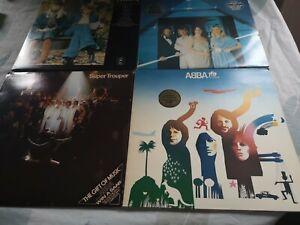 Abba Album Vinyl Bundle X4 Records Including Greatest Hits