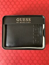 New GUESS BY MARCIANO BLACK MEN'S WALLET