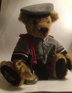 Hermann Spielwaren Ltd Jointed Mohair Bears Town Cryer with Bell & tags #337/500