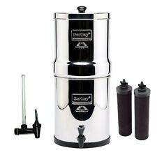 "Big Berkey Water Purifier System w/2 Black Filters & 7.5"" Water View Spigot NEW!"